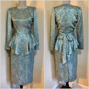 Vintage Peplum Style Dress